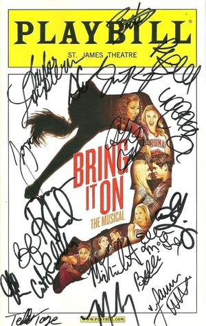 playbill signed