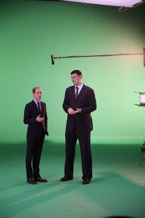 prince willam and yao ming-Behind-the-Scenes Fotos of Prince William's PSA