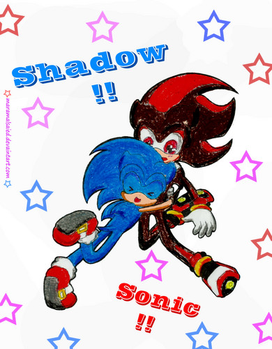 Sonic Yaoi wallpaper probably containing Anime titled Sonadow cute