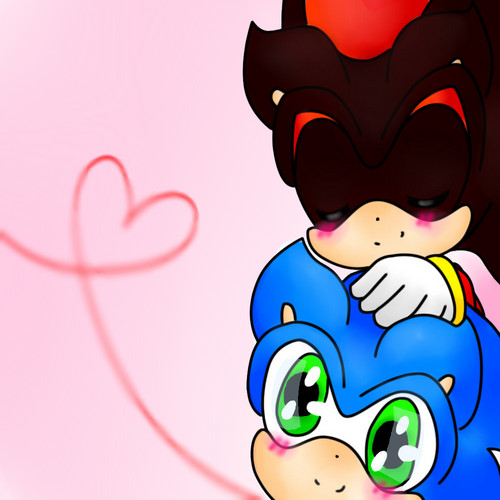 Sonic Yaoi karatasi la kupamba ukuta entitled sonadow cute