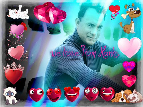 Tom Hanks wallpaper possibly with a bouquet and a portrait titled tom hanks fan club