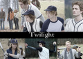 twilight baseball scene