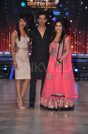 with hrithik and madhuri