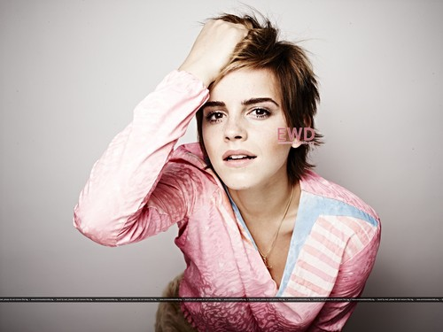 Emma Watson wallpaper possibly with a portrait entitled  Elle UK (by Rankin)