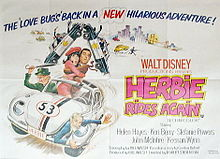 """Herbie Rides Again"" Movie Poster"