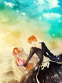 IchiHime: Let's go together by Iwonn - ichigo-and-orihime fan art