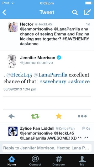 "**•JMO Tweets-""Emma & Regina Will Kick *ss Together!""•**"