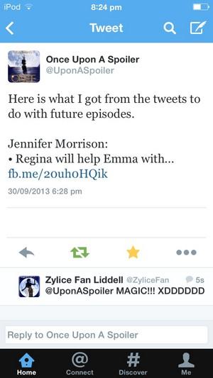 "**•JMO Tweets- ""Regina Will Help Emma With... In Future Episodes!•**"