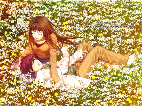 Kawaii Anime wallpaper containing a bouquet, a bridesmaid, and a japanese apricot entitled ✧Kawaii✧(Hiiro No Kakera)