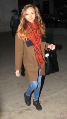 September 23rd - Jade arriving at Radio 1 in london