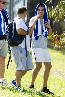 September 24th - Harry Working Out in a Park in Adelaide, Australia