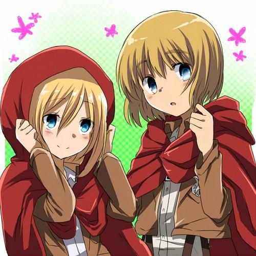 Shingeki no Kyojin (Attack on titan) wallpaper with anime entitled ☤SnK☤(Armin & Christa)