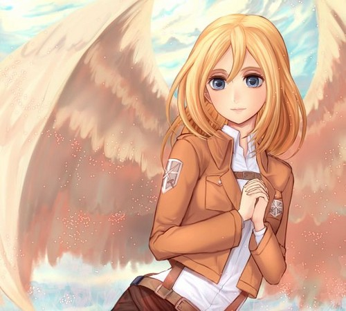 Shingeki no Kyojin (Attack on titan) wallpaper probably with a portrait entitled ☤SnK☤(Christa Renz)
