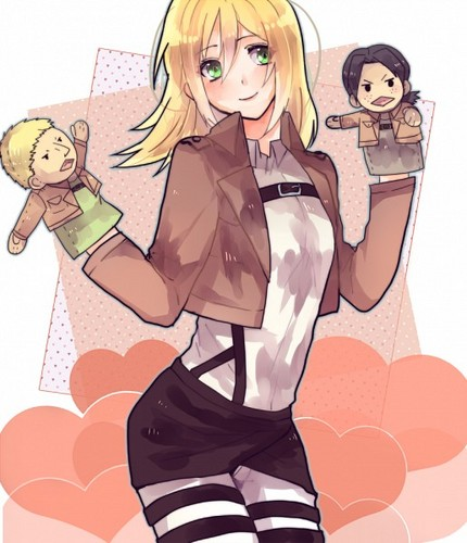 Shingeki no Kyojin (Attack on Titan) Hintergrund probably containing Anime called ☤SnK☤(Christa Renz)