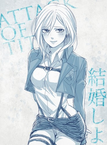 Shingeki no Kyojin (Attack on titan) achtergrond possibly containing anime titled ☤SnK☤(Christa Renz)