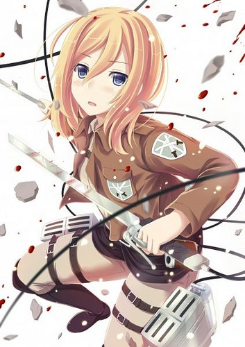 Shingeki no Kyojin (Attack on titan) wallpaper titled ☤SnK☤(Christa Renz)