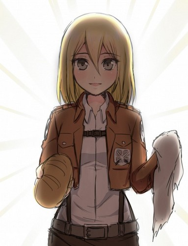 Shingeki no Kyojin (Attack on titan) wallpaper possibly containing anime titled ☤SnK☤(Christa Renz)