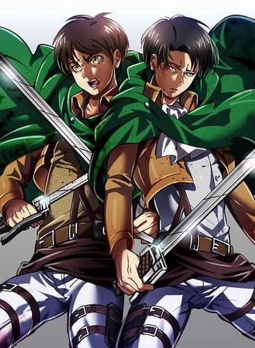 Shingeki no Kyojin (Attack on titan) wallpaper possibly with anime entitled ☤SnK☤(Eren & Levi)