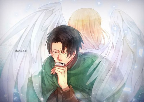Shingeki no Kyojin (Attack on titan) wallpaper probably with a portrait titled ☤SnK☤(Levi & Petra)
