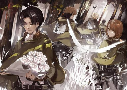 Shingeki no Kyojin (Attack on Titan) Hintergrund entitled ☤SnK☤(Levi's Squad)
