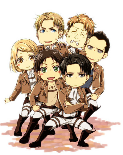 Shingeki no Kyojin (Attack on titan) wallpaper with anime entitled ☤SnK☤(Levi's Squad)