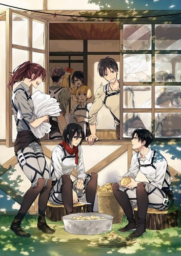Shingeki no Kyojin (Attack on titan) wallpaper probably with a living room, a drawing room, and a parlor entitled ☤SnK☤(Shingeki no Kyojin)