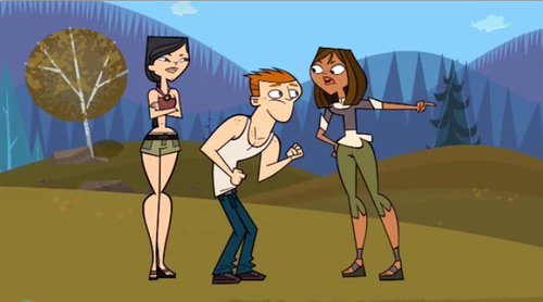 "Total Drama All-Stars fond d'écran possibly with animé entitled ""Stop smiling at me!!!"" - Courtney to Scott"