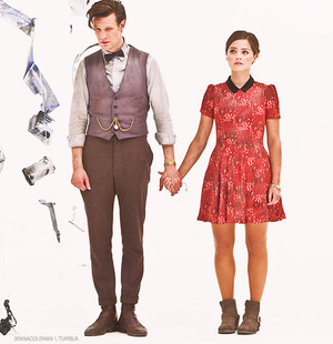 doctor who wallpaper containing a well dressed person and an outerwear called 11th Doctor outfits :)