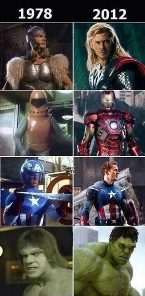 1978's The Avengers vs. 2012's The Avengers
