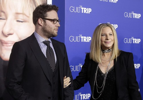 "Barbra Streisand Hintergrund containing a business suit titled 2012 Movie Premiere Of ""Guilt Trip"""