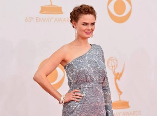 Emily Deschanel wallpaper probably with a dinner dress, a gown, and a cocktail dress called 65th Annual Primetime Emmy Awards 2013