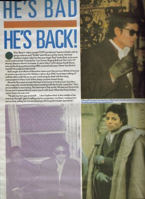 A Magazine 文章 Pertaining To Michael