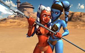 Ahsoka Tano and Aayla Secura