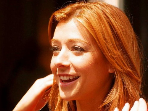 Alyson Hannigan wallpaper containing a portrait entitled Alyson