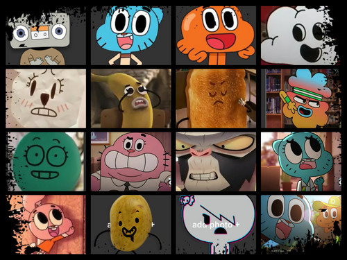 El increíble mundo de Gumball fondo de pantalla containing a slot, a stained glass window, and a slot machine entitled Amazing world of gumball characters