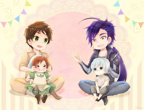 Anime Hintergrund entitled Anime Crossover