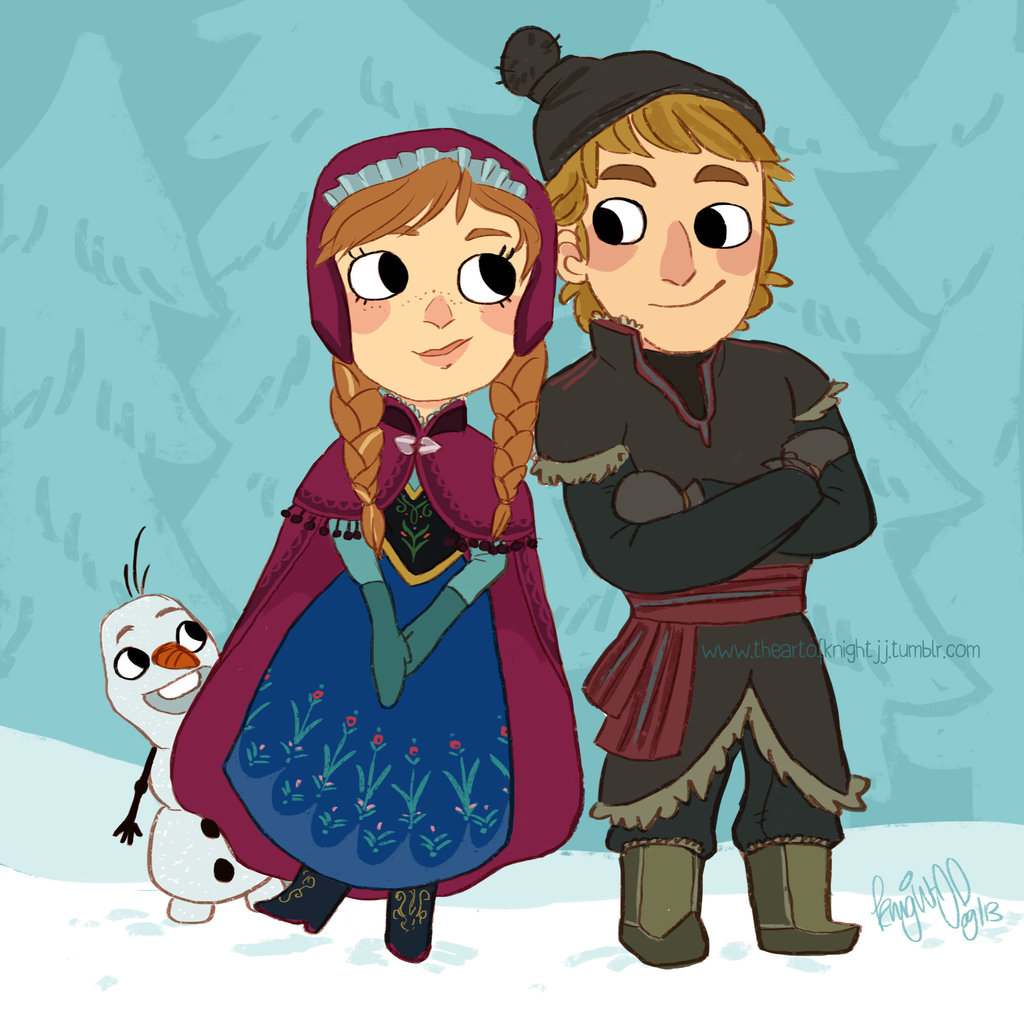 Frozen Pictures of Anna And Kristoff Frozen Anna Kristoff And Olaf