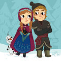Anna, Kristoff and Olaf