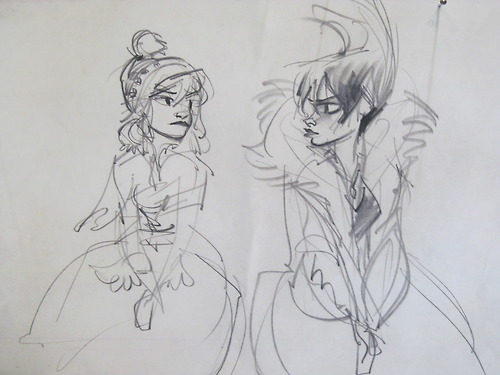 Frozen Concept Art Elsa And Anna