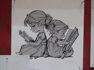 Anna and Elsa Concept Art