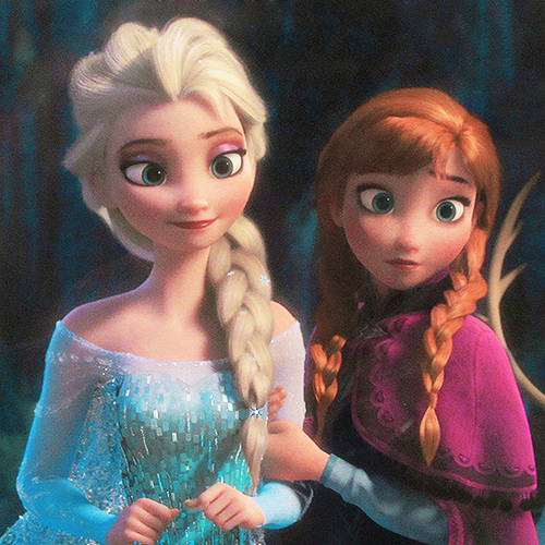 Frozen wallpaper called Anna and Elsa