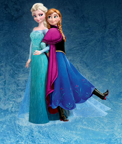 Frozen wallpaper probably containing a polonaise, a kirtle, and a cena dress titled Anna and Elsa