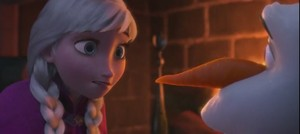 Anna and Olaf Screencap