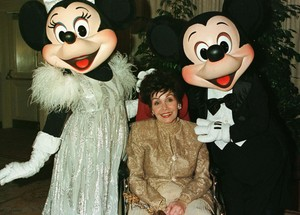 Annette With Mickey And Minnie