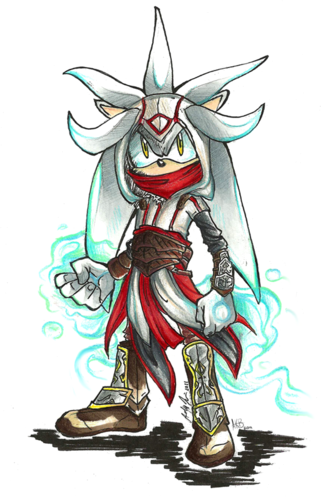 Silver the Hedgehog wallpaper probably with animê entitled Assasin's Creed Silver