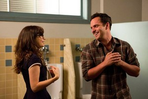 """Behind the Scenes foto from NEW GIRL: """"Nerd"""""""