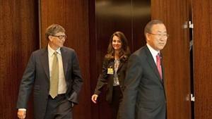 Bill Gates with U.N. Secretary-General Ban Ki-moon