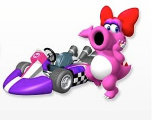 Birdo and her standard kart Mario Kart Wii