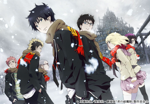 Anime wolpeyper titled Blue Exorcist