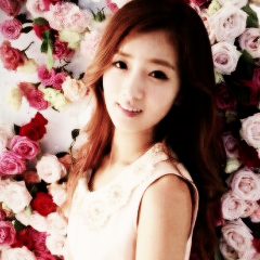 Korea Girls Group A Pink wallpaper containing a bouquet and a portrait entitled Bomi